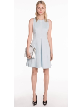 Cotton Twill Tuck Detail Dress by Cue