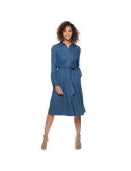 Women's Popsugar Denim Midi Shirt Dress by Kohl's
