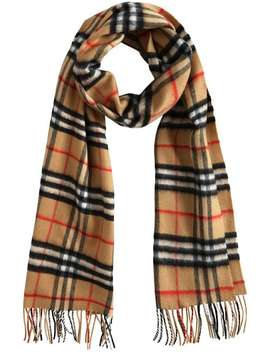 Burberrycashmere Classic Vintage Check Scarfhome Women Burberry Accessories Scarves by Burberry