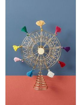 Tasseled Ferris Wheel Tree Topper by Anthropologie