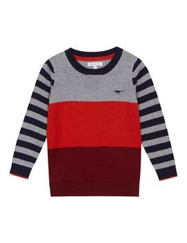 Bluezoo   Boys' Multicoloured Block Striped Jumper by Bluezoo