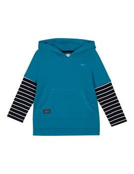 Bluezoo   'boys' Blue Striped Sleeve Sweater by Bluezoo