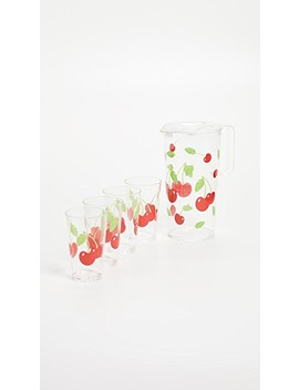 Cherry Party Drinkware Set by Sunny Life