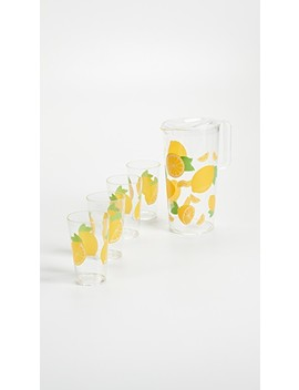 Lemon Party Drinkware Set by Sunny Life