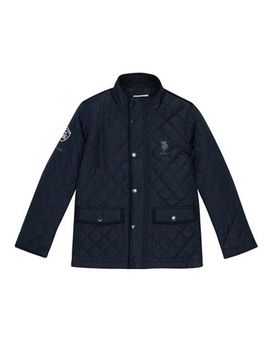 U.S. Polo Assn.   Boys' Navy Quilted Jacket by U.S. Polo Assn.