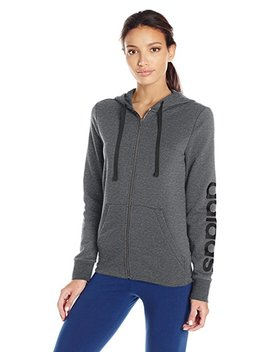 Adidas Women's Essentials Linear Full Zip Fleece Hoodie by Adidas