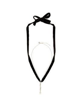 Silver & Black Choker Necklace by Miu Miu