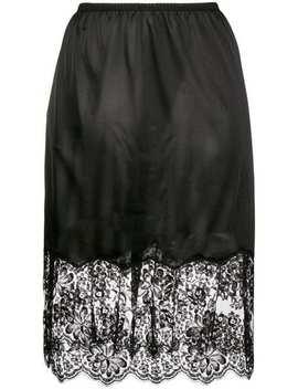 Stella Mc Cartneyflared Lace Skirthome Women Stella Mc Cartney Clothing Straight Skirtsknit Sweater Eclypse Sneakersflared Lace Skirt by Stella Mc Cartney