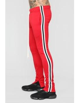 Hollywood Track Pants   Red by Fashion Nova