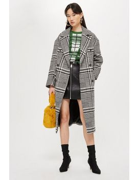 Checked Coat by Topshop