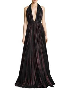 Halter Floor Length Gown by Carmen Marc Valvo