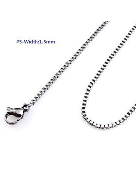 "Width Stainless Steel Necklace   Rolo Link Box Snake Rope Curb Chain 18/20"" by Unbranded"