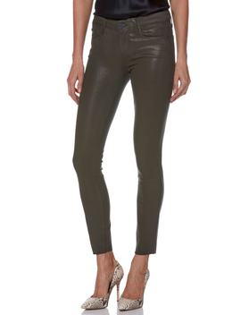 Transcend   Verdugo Coated Ankle Skinny Jeans by Paige