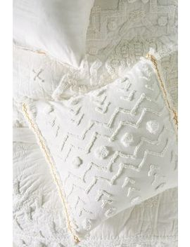 Tufted Cidra Square Pillowcase by Anthropologie
