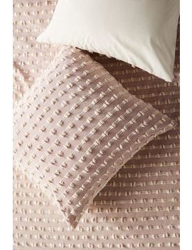 Textured Mareika Square Pillowcase by Anthropologie