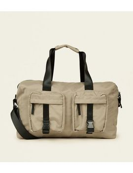 Stone Utility Holdall Bag by New Look