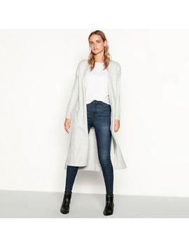 Nine By Savannah Miller   Grey Knitted Longline Cardigan by Nine By Savannah Miller