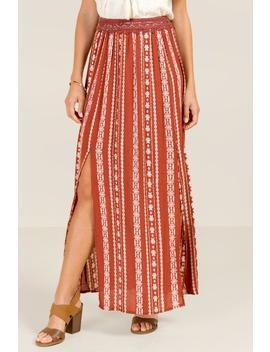 Vanessa Crochet Waist Maxi Skirt by Francesca's