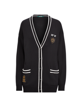 bullion-patch-cardigan by ralph-lauren