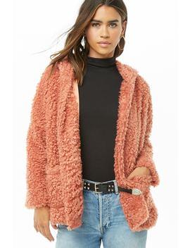 Faux Sheepskin Coat by Forever 21