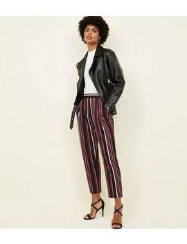 Black Stripe Scuba Pull On Trousers by New Look