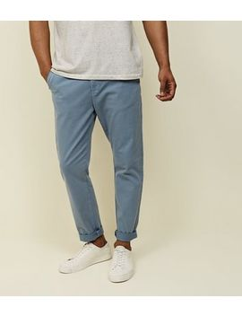 Blue Tapered Chinos by New Look