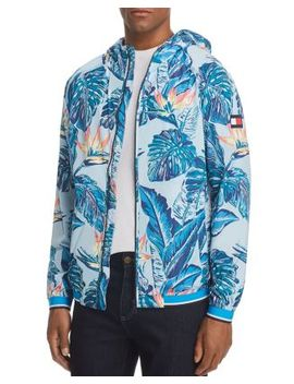 Botanical Print Hooded Jacket by Tommy Hilfiger