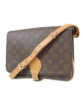 Louis Vuitton Cartouchiere Gm Shoulder Bag Monogram M51252 Vintage Auth #P413 W by Louis Vuitton