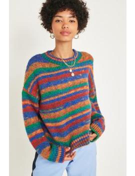 Uo '90s Rainbow Stripe Spacedye Jumper by Urban Outfitters