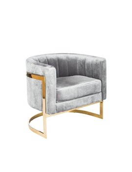 Everly Quinn Northam Gold Barrel Chair & Reviews by Everly Quinn
