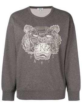 Embellished Tiger Sweatshirt by Kenzo
