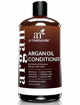 Art Naturals Argan Oil Hair Conditioner   16 Oz   Sulfate Free   Best Treatment For Damaged & Dry Hair   Made With Organic Ingredients & Keratin   For All Hair Types   Safe For Color Treated Hair by Art Naturals