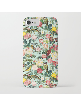 Floral And Birds Iii I Phone Case by