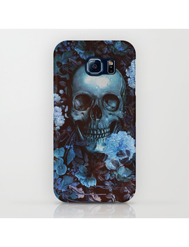 Skull And Flowers I Phone Case by
