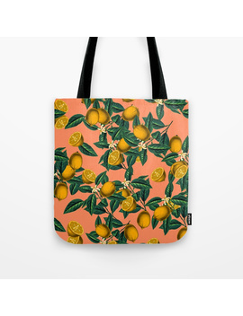 Lemon And Leaf Tote Bag by