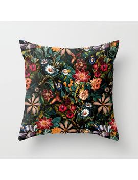 Night Garden Xxiv Throw Pillow by