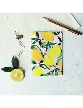 Lemons Pocket A6 Notebook With Gold Foiling by Etsy
