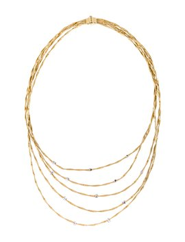 18 K Diamond Marrakesh Multistrand Necklace by Marco Bicego