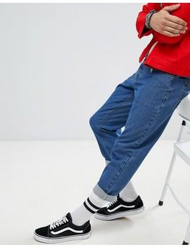 Boohoo Man   Jeans Stile Skater Blu Délavé by Asos