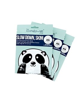 The Creme Shop   Slow Down, Skin! (Panda Face Mask) 3 Piece Value Set   Bamboo Extract by The Creme Shop