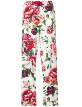 Dolce & Gabbanapeony Print Track Pantshome Women Dolce & Gabbana Clothing Sweatpants by Dolce & Gabbana