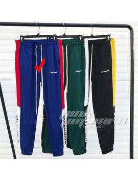 New Fashion Vintage Women Sporting Trousers Letters Printed Elastic Waist Casual Pants Patchwork Sweatpants  Long Pants 3 Colors by Sexelanlan