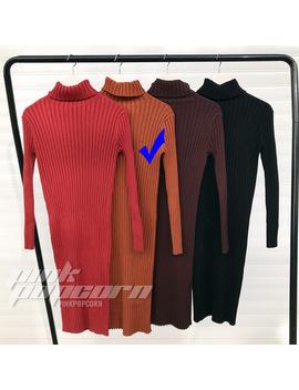Winter Split Knitted Bodycon Dress Women Sexy Long Sleeve Midi Dress Elegant Warm Slim Sweater Dress Vestidoes by Sexelanlan