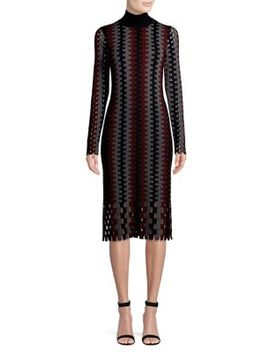 Wool Turtleneck Midi Dress by Diane Von Furstenberg