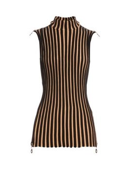 Sleeveless Wide Ribbed Wool Blend Tunic Top by Edun