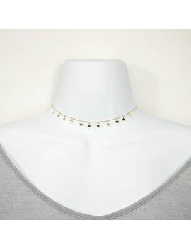 Mini Multi Dangling Plain Star Sterling Silver Choker Necklace by Etsy