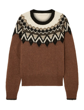 Joleen Metallic Intarsia Alpaca Blend Sweater by Vanessa Bruno