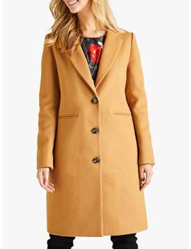 Yumi Glitter Button Coat, Camel by Yumi