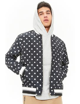 [Men]Polka Dot Bomber Jacket by Forever 21