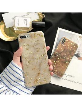 Make Workshop   Bronzing Marble Print Mobile Case   I Phone X / 8 / 8 Plus / 7 / 7 Plus / 6s / 6s Plus by Make Workshop